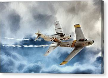 Embattled Mig Alley Canvas Print by Peter Chilelli