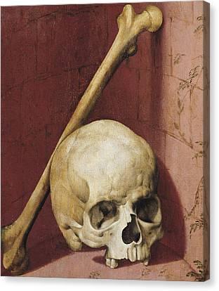 Emblems Of Death Canvas Print by German School