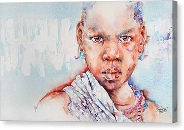 Embolden - African Portrait Canvas Print by Stephie Butler