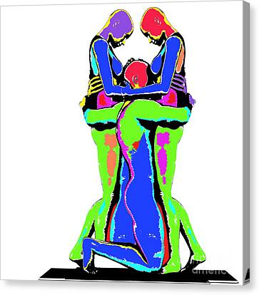 Embrace Of Love Canvas Print by Jo Collins