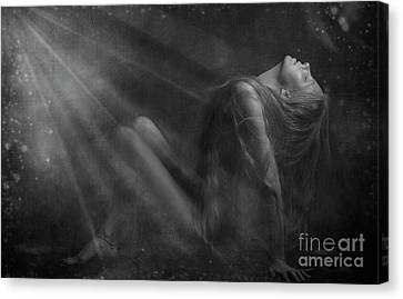 Embraced By The Light.. Canvas Print by Nina Stavlund