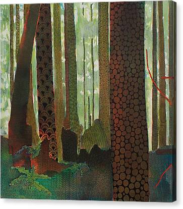Embroidered Forest Part 1 Canvas Print by Sandrine Pelissier