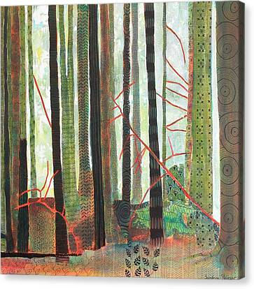 Embroidered Forest Part 3 Canvas Print by Sandrine Pelissier