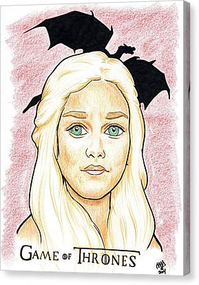 Emelia Clarke - Game Of Thrones Canvas Print by Michael Dijamco