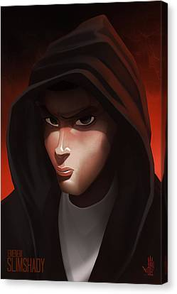 Emenem  Canvas Print by Nelson Dedos Garcia