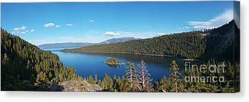 Canvas Print featuring the photograph Emerald Bay Lake Tahoe Panorama by Paul Topp