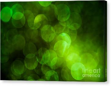Emerald Bokeh Canvas Print by Jan Bickerton