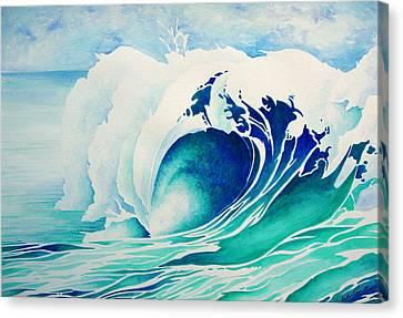 Emerald Break Canvas Print