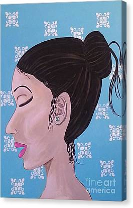 Emerald Earring Canvas Print by Debra Acevedo