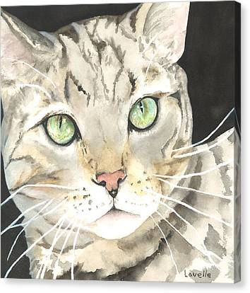 Emerald Eyes Canvas Print by Kimberly Lavelle