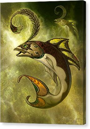 Emerald Fish Canvas Print by Jeff Haynie