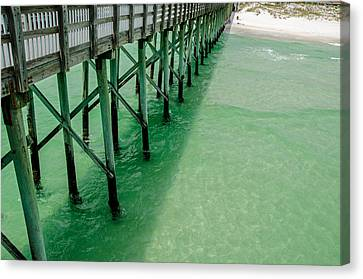 Canvas Print featuring the photograph Emerald Green Tide  by Susan  McMenamin