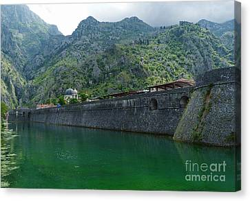 Emerald Green Water - Kotor Canvas Print by Phil Banks