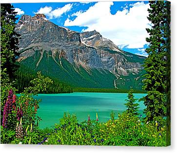 Emerald Lake In Yoho Np-bc Canvas Print by Ruth Hager