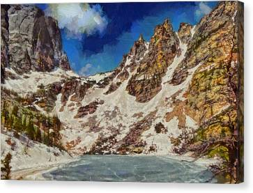Emerald Lake Rocky Mountain National Park Canvas Print by Dan Sproul