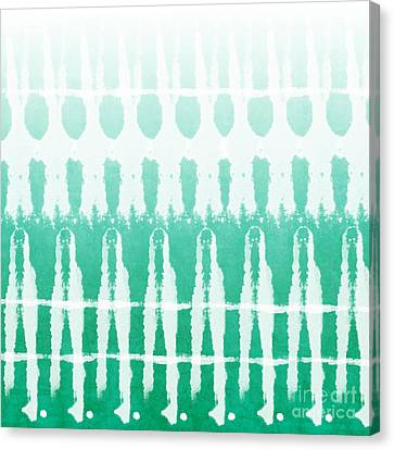 Emerald Ombre  Canvas Print by Linda Woods