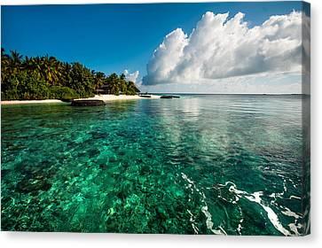 Emerald Purity. Kuramathi Resort. Maldives Canvas Print by Jenny Rainbow