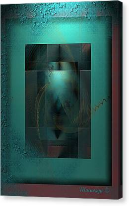 Emerald Rain Canvas Print by Ines Garay-Colomba