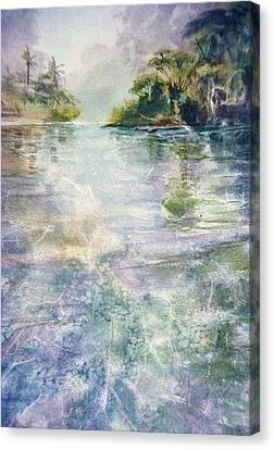 emerald Stream Canvas Print by Patrice Pendarvis