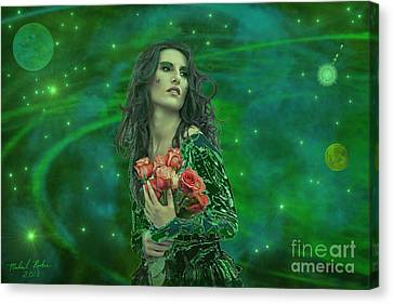 Emerald Universe Canvas Print