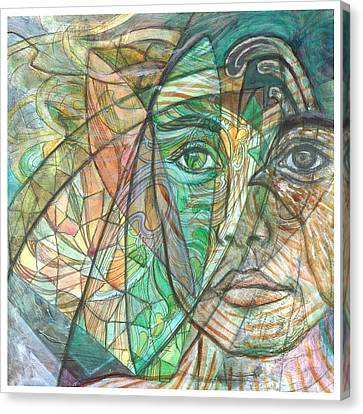 Emerald Visionary Canvas Print by Elizabeth D'Angelo