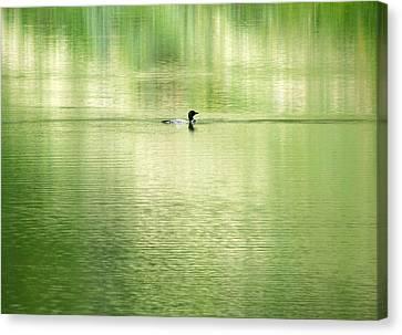 Emerald Water Canvas Print by Ramona Johnston
