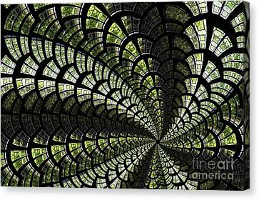 Canvas Print featuring the photograph Emerald Whirl. by Clare Bambers