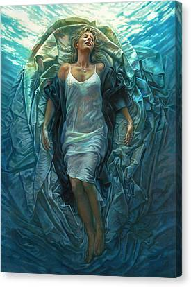 Emerge Lighter Version Canvas Print by Mia Tavonatti