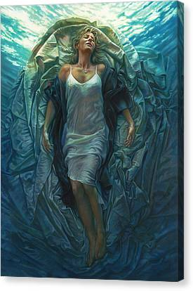 Figurative Canvas Print - Emerge Painting by Mia Tavonatti