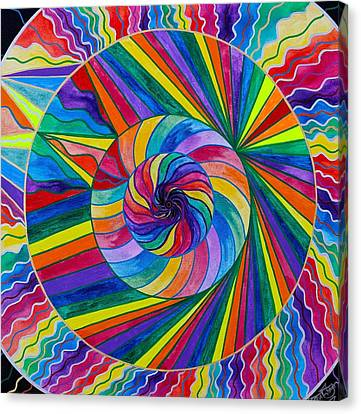 Frequency Products Canvas Print - Emerge by Teal Eye  Print Store