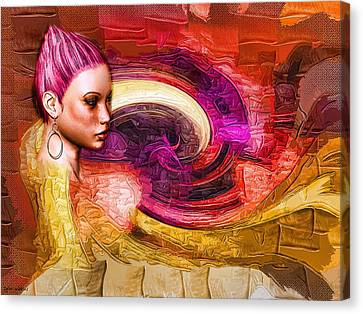Canvas Print featuring the mixed media Emergence by Tyler Robbins