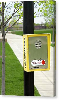 Emergency Call Box Canvas Print by Jim West