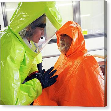 Emergency Response Worker And Casualty Canvas Print by Public Health England
