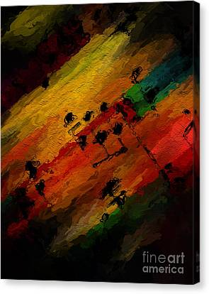 Canvas Print featuring the digital art Emerging Motive by Lon Chaffin