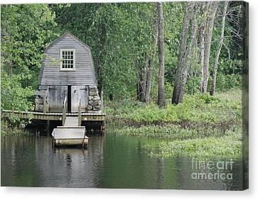 Emerson Boathouse Concord Massachusetts Canvas Print by Amy Porter