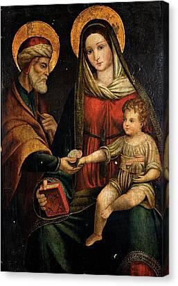 Emilian Artist, Holy Family, 16th Canvas Print