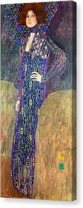 Emilie Floege Canvas Print by Gustav Klimt