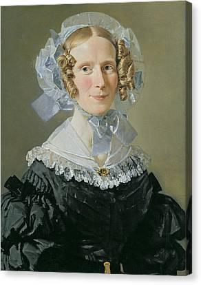Emilie Kessel 1800-53 1839 Oil On Canvas Canvas Print by Christian-Albrecht Jensen