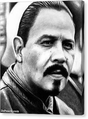 Emilio Rivera As Marcus Alvarez Canvas Print by Rick Fortson