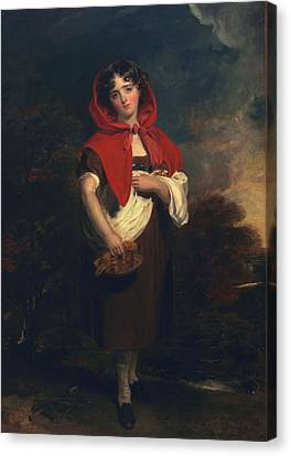 Emily Anderson Little Red Riding Hood Canvas Print