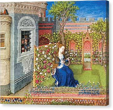 Emily In The Garden Canvas Print by Unknow
