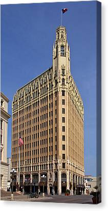 Canvas Print featuring the photograph Emily Morgan Hotel by Jemmy Archer