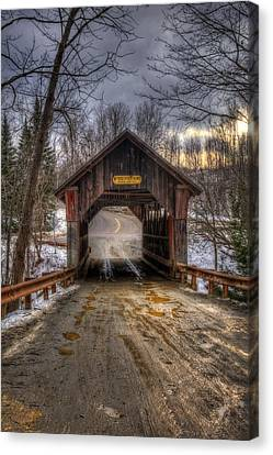 Emily's Bridge - Stowe Vermont Canvas Print by Joann Vitali