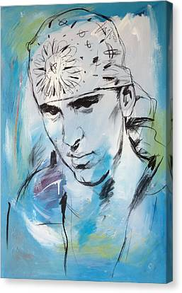 Eminem Art Painting Poster Canvas Print by Kim Wang