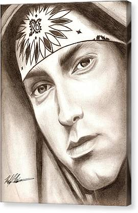 Eminem Canvas Print by Michael Mestas