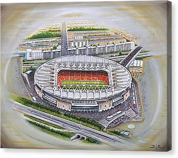 Ground Canvas Print - Emirates Stadium - Arsenal by D J Rogers