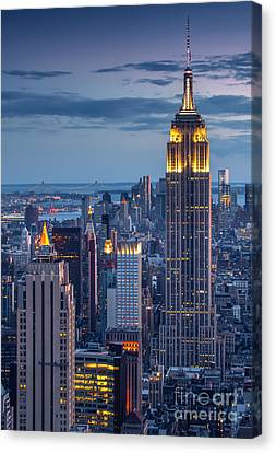 Empire State Canvas Print by Marco Crupi