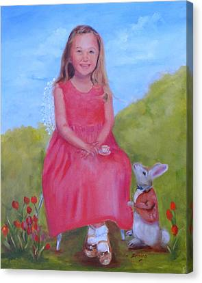Emma In Wonderland Canvas Print by Carol Berning