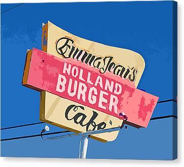 Burger Canvas Print - Emma Jean's by Charlette Miller