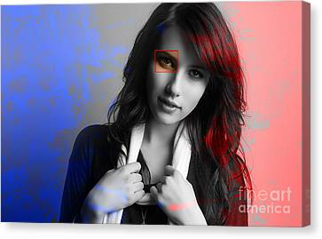 Emma Roberts Painting Canvas Print by Marvin Blaine